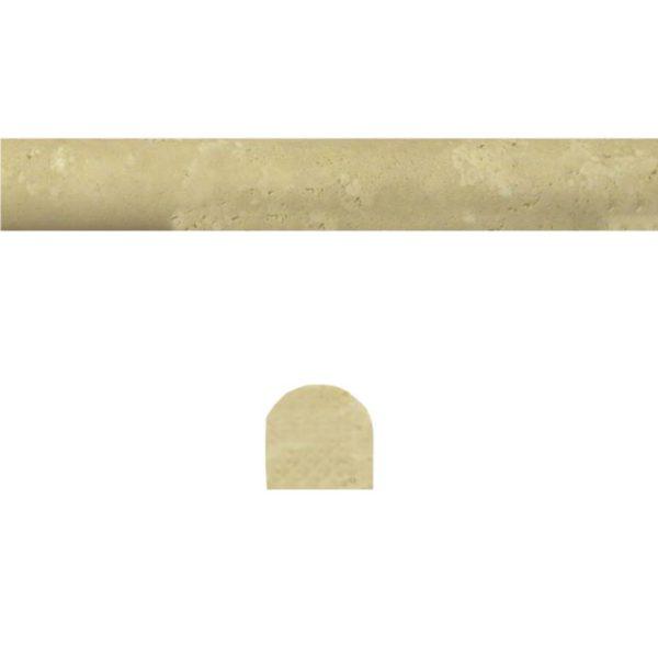 Walnut Travertine Trim Tile Pencil Rail Honed Tan Brown Beige Cream Gray White Indoor Wall Backsplash Tub Shower Vanity QDIsurfaces