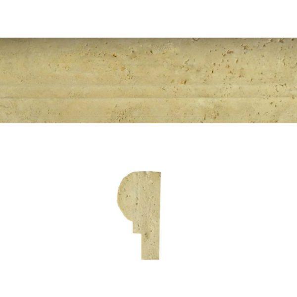 Walnut Travertine Trim Tile Single Ogee Honed Tan Brown Beige Cream Gray White Indoor Wall Backsplash Tub Shower Vanity QDIsurfaces