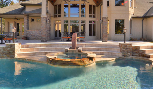 Wooden Travertine Paver Versailles Pattern Tumbled 5 Tan Brown Beige Cream Outdoor Floor Wall Pool Patio Backyard Tub Shower Vanity QDIsurfaces