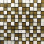 Zeugma BT 002 Glass Mosaic Tile Brown Tan Beige Cream White Outdoor Indoor Wall Backsplash Tub Shower Vanity QDIsurfaces