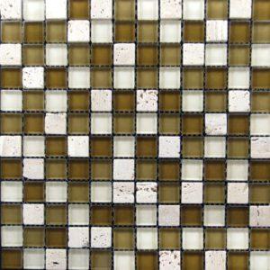 Zeugma BT 002 Glass Mosaic Tile Brown Tan Beige Cream White Outdoor Indoor Wall Backsplash Tub Shower Vanity QDIsurfaces