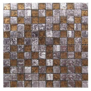 Zeugma BT 006 Glass Mosaic Tile Brown Tan Beige Cream White Red Pink Outdoor Indoor Wall Backsplash Tub Shower Vanity QDIsurfaces
