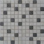 Zeugma BW 002 Glass Mosaic Tile Beige Cream White Black Gray Outdoor Indoor Wall Backsplash Tub Shower Vanity QDIsurfaces