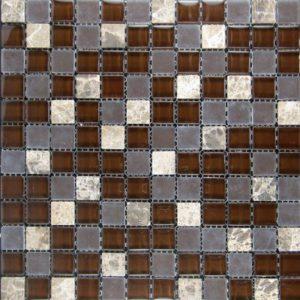Zeugma Blended GM 305 Glass Mosaic Tile Beige Cream White Brown Tan Outdoor Indoor Wall Backsplash Tub Shower Vanity QDIsurfaces