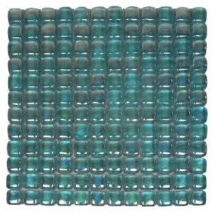 Zeugma Bolla Vetro IB 02 Glass Mosaic Tile Blue Green Outdoor Indoor Wall Backsplash Tub Shower Vanity QDIsurfaces