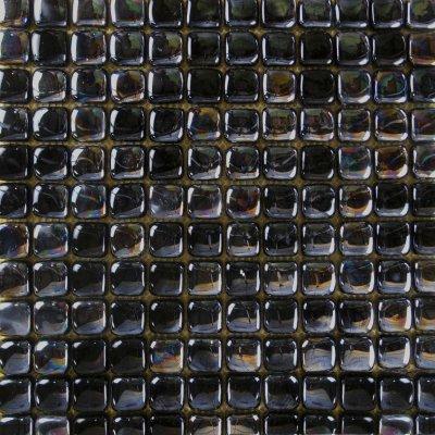 Zeugma Bolla Vetro IB 06 Glass Mosaic Tile Black Gray Outdoor Indoor Wall Backsplash Tub Shower Vanity QDIsurfaces