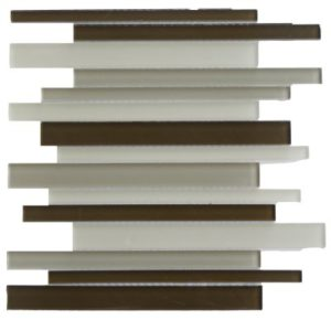 Zeugma G E 004 Glass Mosaic Tile Brown Tan Beige Cream Outdoor Indoor Wall Backsplash Tub Shower Vanity QDIsurfaces