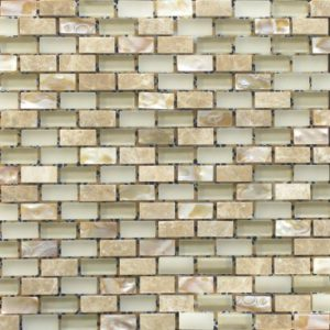Zeugma GM SH 015 Glass Mosaic Tile Gray White Beige Cream Tan Brown Outdoor Indoor Wall Backsplash Tub Shower Vanity QDIsurfaces