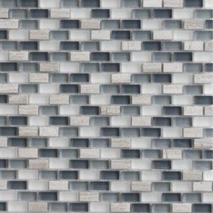 Zeugma GM12 006 Glass Mosaic Tile Gray White Beige Cream Blue Outdoor Indoor Wall Backsplash Tub Shower Vanity QDIsurfaces