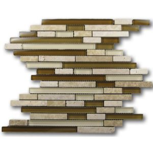 Zeugma GM15Z 013 Glass Mosaic Tile Beige Cream Brown Tan Outdoor Indoor Wall Backsplash Tub Shower Vanity QDIsurfaces