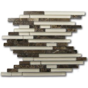 Zeugma GM15Z 022 Glass Mosaic Tile Beige Cream Brown Tan Outdoor Indoor Wall Backsplash Tub Shower Vanity QDIsurfaces
