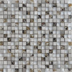Zeugma GMBN15 011 Glass Mosaic Tile Brown Tan Beige Cream Gray White Black Outdoor Indoor Wall Backsplash Tub Shower Vanity QDIsurfaces