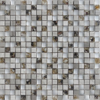 Zeugma GMBN15 011 Glass Mosaic Tile Brown Tan Beige Cream Gray White Black Outdoor Indoor Wall Backsplash Tub Shower Vanity QDIsurfaces