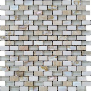 Zeugma GMSH 005 Glass Mosaic Tile 12x12 1Brown Tan Beige Cream Gray White Black Outdoor Indoor Wall Backsplash Tub Shower Vanity QDI