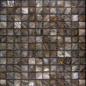 Zeugma Mother of Pearl SH 13 Glass Mosaic Tile Brown Tan Beige Gray Outdoor Indoor Wall Backsplash Tub Shower Vanity QDI