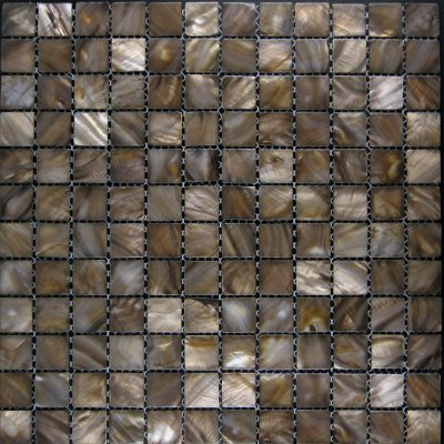 Zeugma Mother of Pearl SH 13 Glass Mosaic Tile Brown Tan Beige Gray Outdoor Indoor Wall Backsplash Tub Shower Vanity QDI