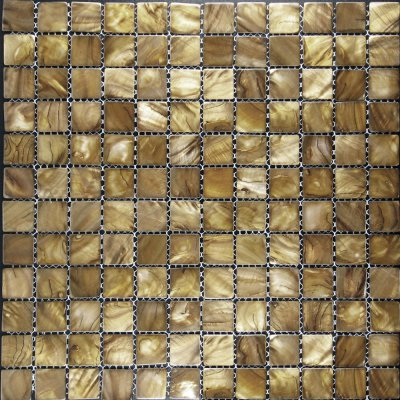 Zeugma Mother of Pearl SH 16 Glass Mosaic Tile Brown Tan Beige Cream Outdoor Indoor Wall Backsplash Tub Shower Vanity QDI