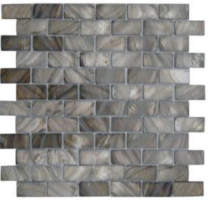 Zeugma Mother of Pearl SHB 20 Glass Mosaic Tile 12x12 Brown Beige Gray Outdoor Indoor Wall Backsplash Tub Shower Vanity QDI