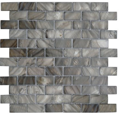 Zeugma Mother of Pearl SHB 20 Glass Mosaic Tile 12x12 Brown Beige Gray Outdoor Indoor Wall Backsplash Tub Shower Vanity QDI