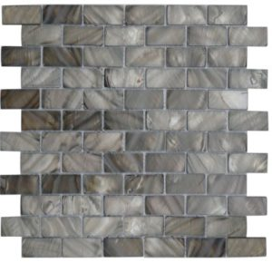 Zeugma Mother of Pearl SHB 20 Glass Mosaic Tile Brown Beige Gray Outdoor Indoor Wall Backsplash Tub Shower Vanity QDI
