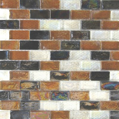 Zeugma Opalescence IBR 01 06 16 Glass Mosaic Tile Blue White Yellow Brown Tan Outdoor Indoor Wall Backsplash Tub Shower