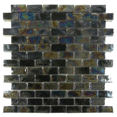 Zeugma Opalescence IBR 06 Glass Mosaic Tile 12x12 Blue Green Brown Beige Black Gray Outdoor Indoor Wall Backsplash Tub Shower