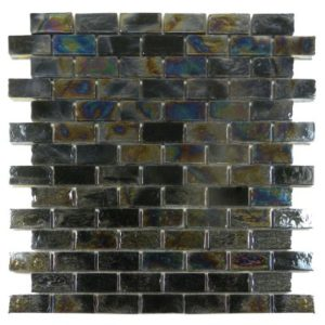 Zeugma Opalescence IBR 06 Glass Mosaic Tile Blue Green Brown Beige Black Gray Outdoor Indoor Wall Backsplash Tub Shower Vanity