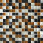 Zeugma Opalescence IC 01 06 16 Glass Mosaic Tile Blue White Black Brown Outdoor Indoor Wall Backsplash Tub Shower Vanity