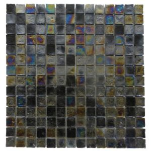 Zeugma Opalescence IC 06 Glass Mosaic Tile Blue Green Black Brown Pink Yellow Outdoor Indoor Wall Backsplash Tub Shower Vanity