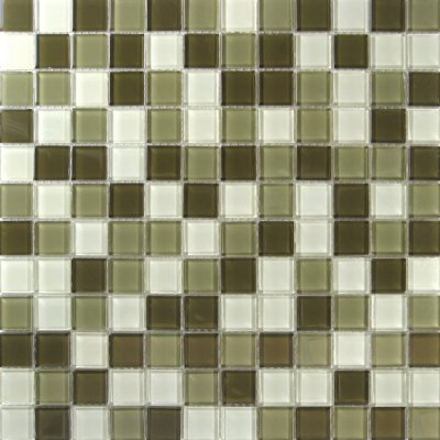 Zeugma Retro TMS L135 Glass Mosaic Tile Green White Outdoor Indoor Wall Backsplash Tub Shower Vanity QDIsurfaces