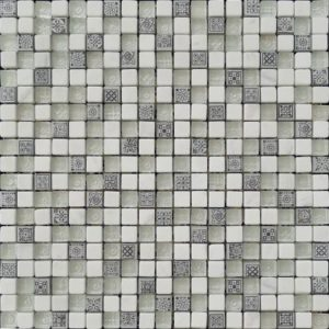 Zeugma TA 833 Glass Mosaic Tile Gray Black White Outdoor Indoor Wall Backsplash Tub Shower Vanity QDIsurfaces