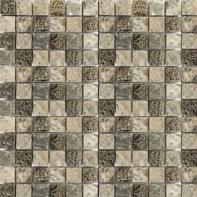 Zeugma TC 008 Glass Mosaic Tile Gray Brown Tan Beige Cream Outdoor Indoor Wall Backsplash Tub Shower Vanity QDIsurfaces