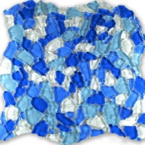 Zeugma Vedere Zig Zag ZZ 701 Glass Mosaic Tile Blue White Outdoor Indoor Wall Backsplash Tub Shower Vanity QDIsurfaces