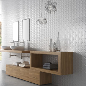 "STAGE DELTA 12""x36"" Glazed Rectified White Bodied Ceramic Wall Tile"