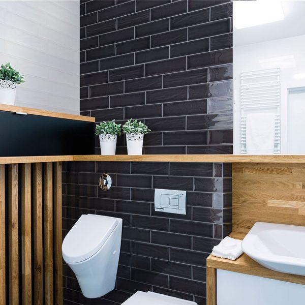 1 ARIA Black 4x12 ceramic wall tile QDI Surfaces product room scene 800x800 1