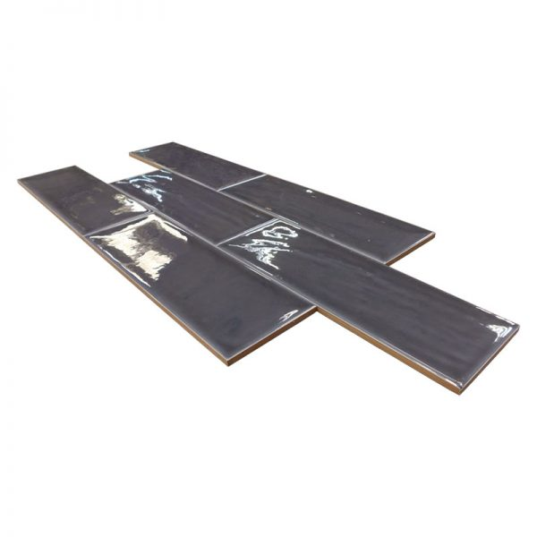4 ARIA Black 4x12 ceramic wall tile QDI Surfaces product angle 800x800 1