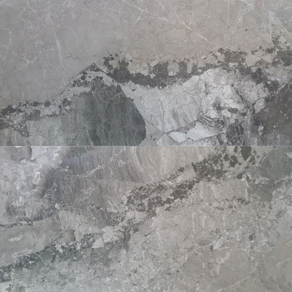 "Atlantic Grey 12""x24"" Polished Marble Tile"