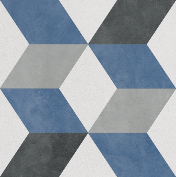 "Cuadrado - Caribe 9.25""x9.25"" Single Piece Pattern Porcelain Floor & Wall Tile"