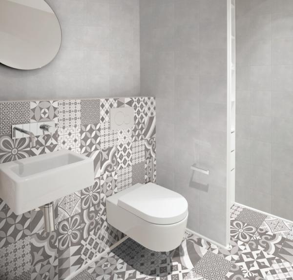 "Cuadrado Gray 9.25""x9.25"" Porcelain Floor & Wall Tile"