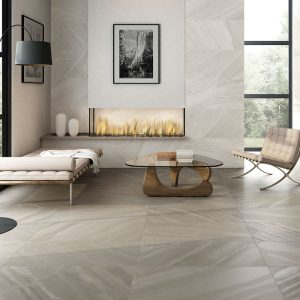 1 BURLINGSTONE Bone 12x24 porcelain floor wall tile QDI Surfaces product room scene 800x800 1