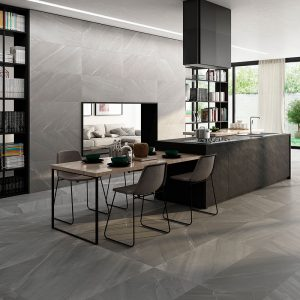 1 BURLINGSTONE Gris 12x24 porcelain floor wall tile QDI Surfaces product room scene 800x800 1