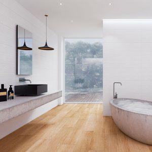 1 ESSENTIAL Pebble White 12x24 ceramic wall tile QDI Surfaces product room scene 800x800 1