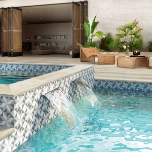 Fiore Gina 6x6 Waterline Porcelain Pool Tile