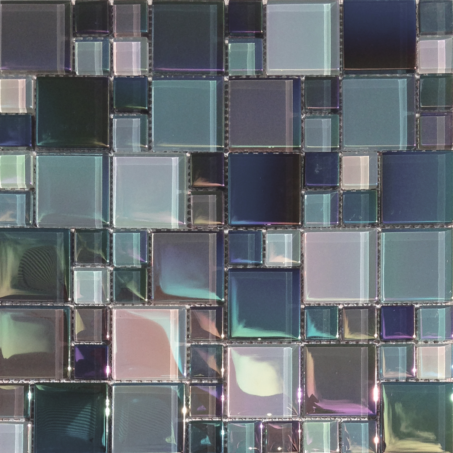 lux aqua st george 1 x2 random size glass mosaic. Black Bedroom Furniture Sets. Home Design Ideas