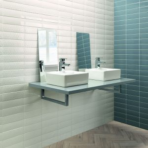 1 LONDON White 3x8.7 ceramic wall tile QDI Surfaces product room scene 800x800 1