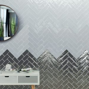 1 MANHATTAN 10th Ave 3x6 ceramic wall tile QDI Surfaces product room scene 800x800 1