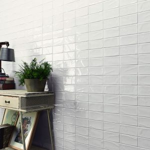 1 MANHATTAN 1st Ave 3x6 ceramic wall tile QDI Surfaces product room scene 800x800 1