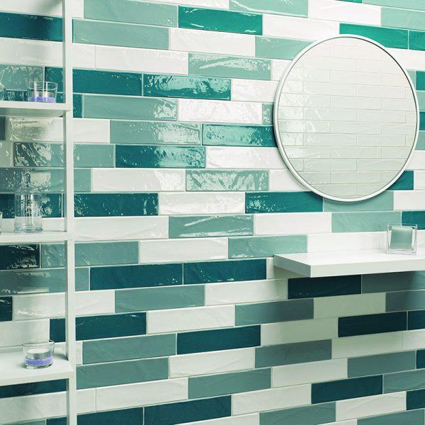 1 MANHATTAN 7th Ave 3x6 ceramic wall tile QDI Surfaces product room scene 800x800 1