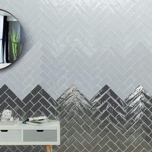 1 MANHATTAN 9th Ave 3x6 ceramic wall tile QDI Surfaces product room scene 800x800 1