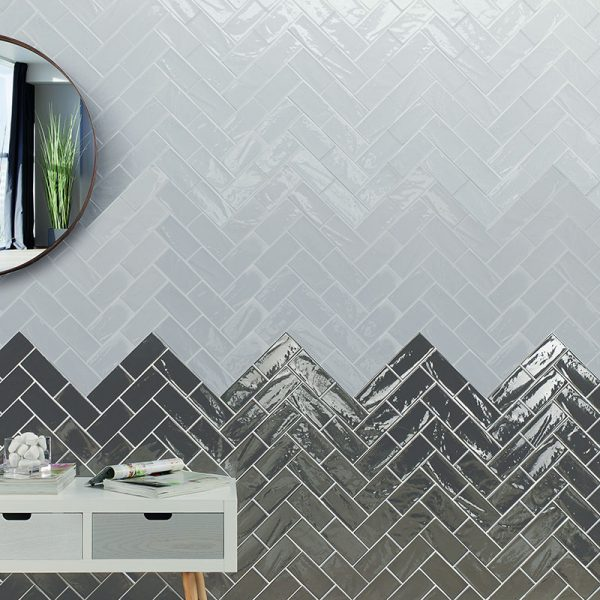 1 MANHATTAN 9th Ave 3x6 ceramic wall tile QDI Surfaces product room scene 800x800 1